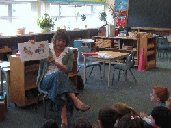 Reading at Sunshine Montessori School